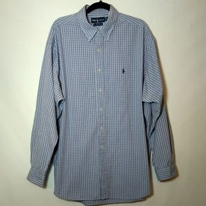Ralph Lauren Blake  Plaid Button Down Shirt